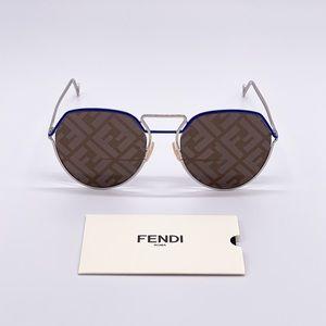 NEW FENDI FF M0073/S 010 PALLADIUM UNISEX EYEWEAR